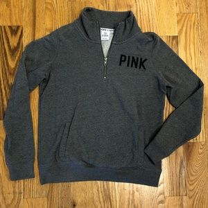 PINK Victoria's Secret pullover quarter zip small